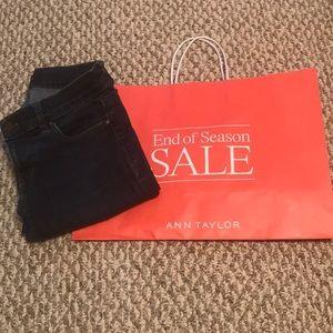 Ann Taylor Performance Denim Jeans: Dark Wash